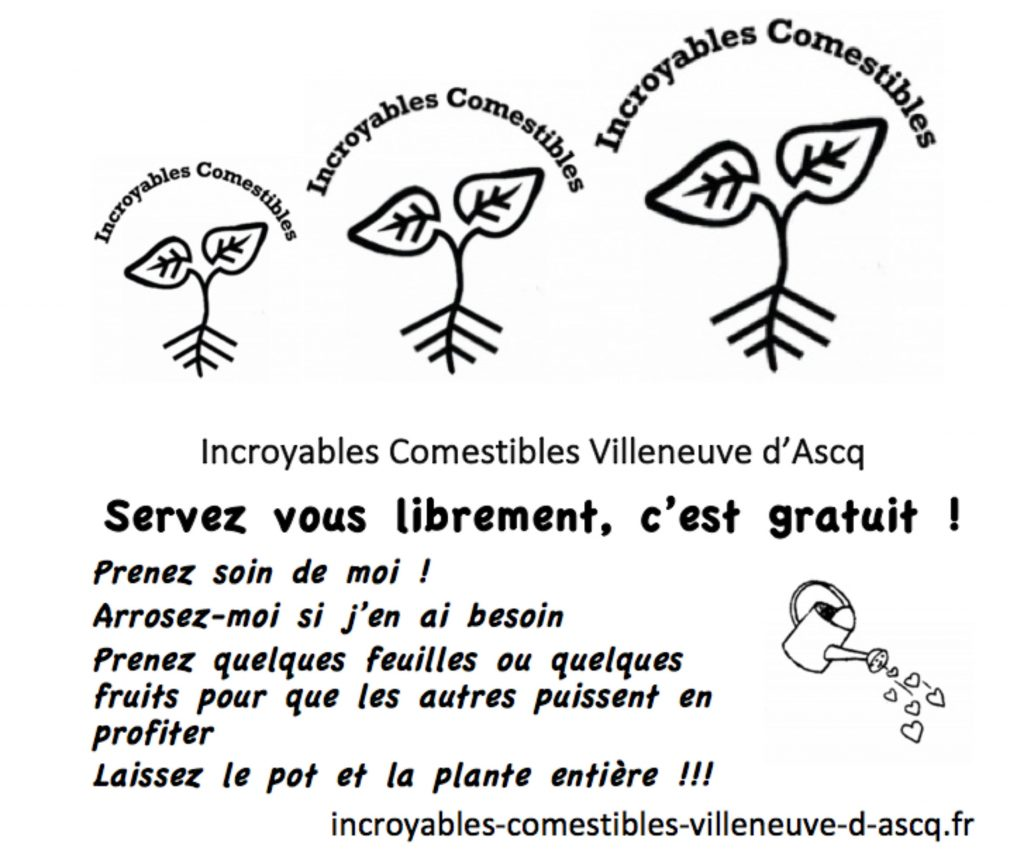 l'affiche Incroyables Comestibles Villeneuve d'Ascq